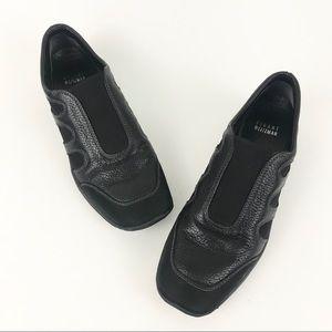 Stuart Weitzman 7 Leather Loafer Sneakers Black